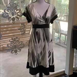 H&M abstract black and white dress!